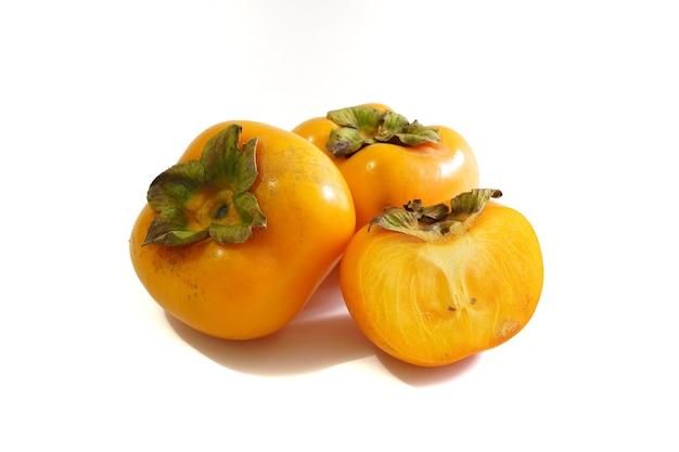 Świeża dojrzała persimmon lub chińska śliwka persimmon zdjęcie