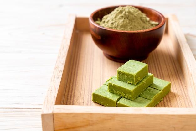 Świeża i miękka czekolada z zielonej herbaty matcha