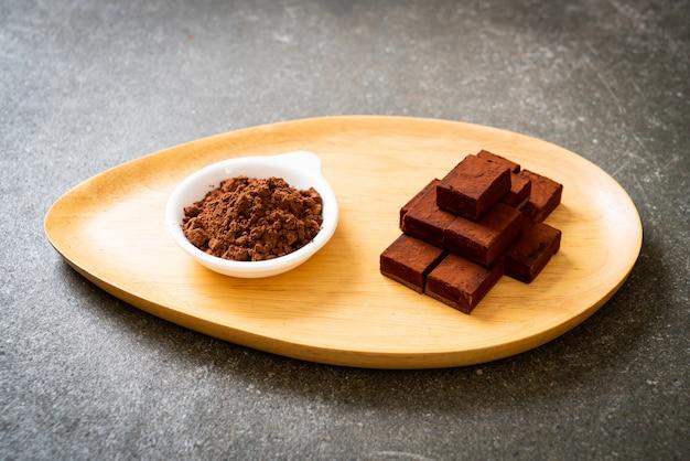 Świeża i miękka czekolada