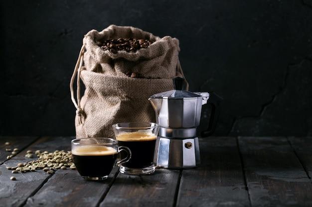 Świeża kawa espresso
