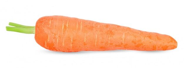 Świeża marchewka odizolowywająca na białej ścinek ścieżce