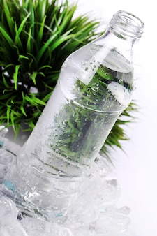 Świeża woda w butelce