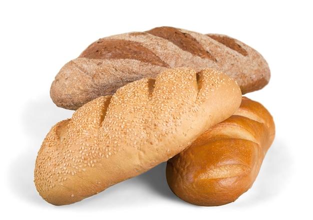 Świeże domowe bochenki chleba, zbliżenie