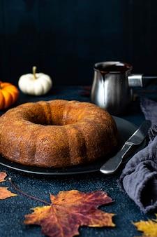 Świeże domowe ciasto z dyni