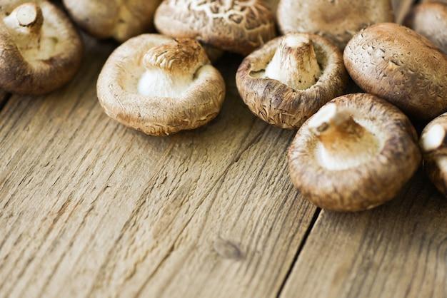 Świeże grzyby - grzyby shiitake
