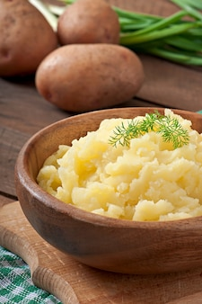 Świeże i aromatyczne puree ziemniaczane