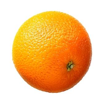 Świeże owoce pomarańczowe na białym tle. ze ścieżką przycinającą.