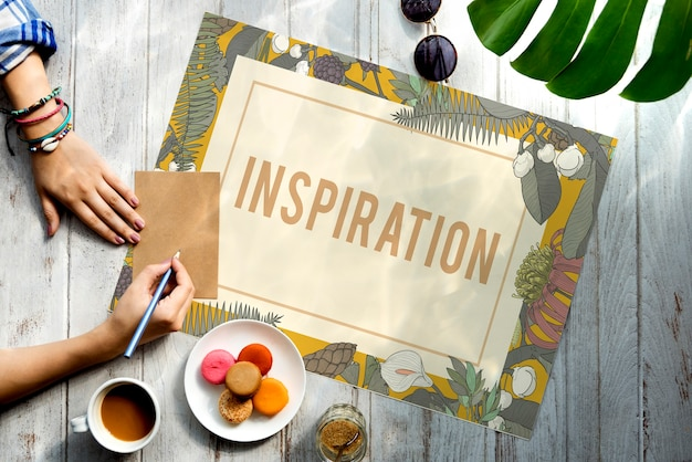 Świeże pomysły design be creative inspiration concept