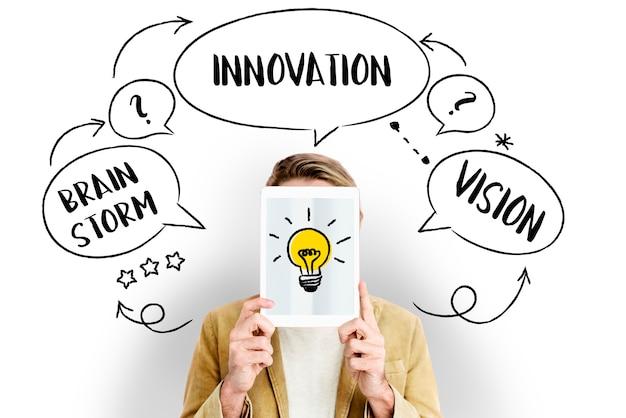 Świeże pomysły kreatywne innowacje żarówka