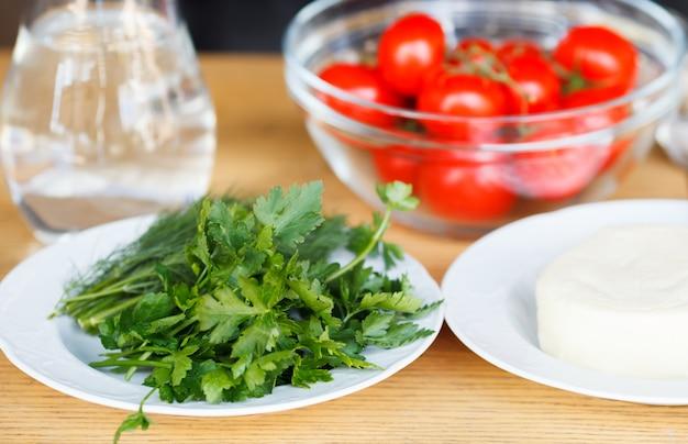 Świeże produkty ekologiczne i warzywa.