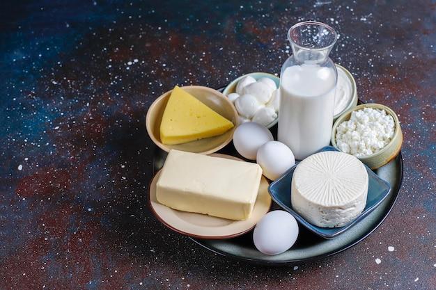 Świeże produkty mleczne.