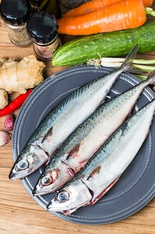 Świeże ryby makrela
