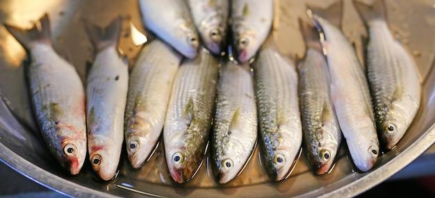 Świeże ryby na rynku. tajlandia.
