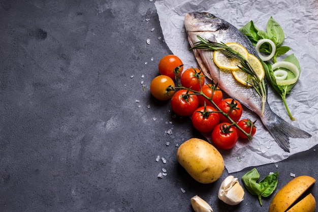 Świeże ryby tło
