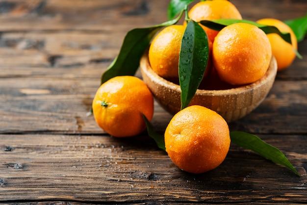 Świeże słodkie mandarynki
