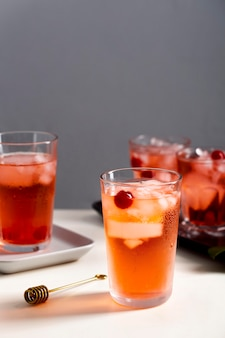 Świeże słodkie zimne napoje