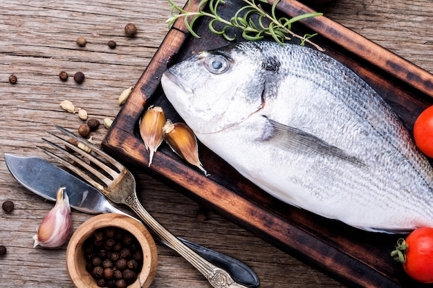 Świeże, surowe ryby