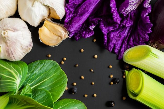 Świeże warzywa: bok choy (kapusta pekińska)