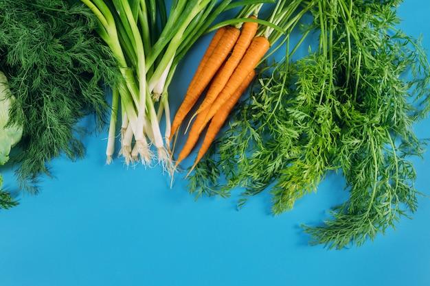 Świeże zebrane warzywa