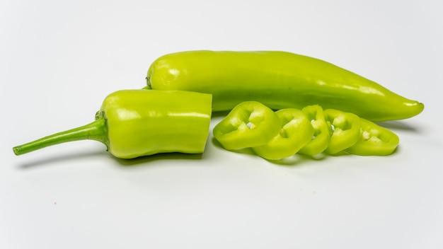 Świeże zielone słodkie papryki papryki bananowe