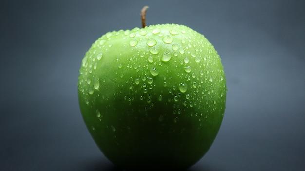 Świeże zielone zdjęcia jabłek
