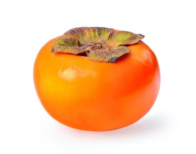 Świezi dojrzali persimmons odizolowywający