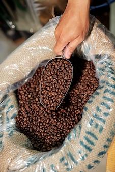 Świeżo palona kawa ziarnista