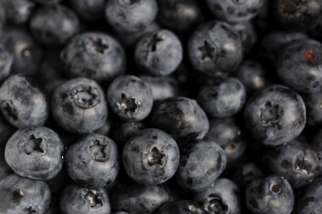Świeży dojrzały czarnej jagody tło