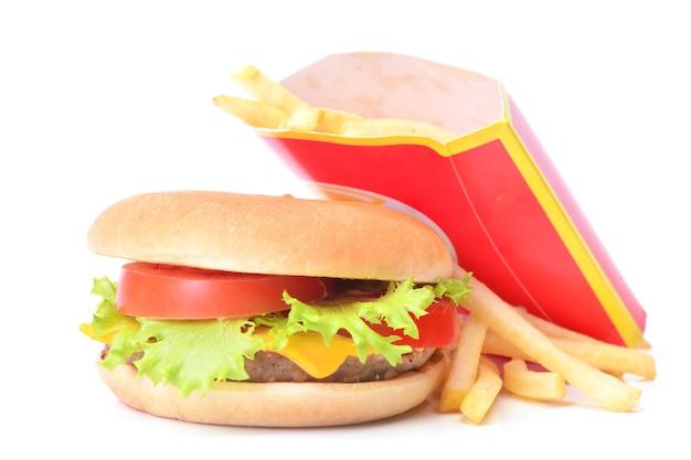 Świeży hamburger