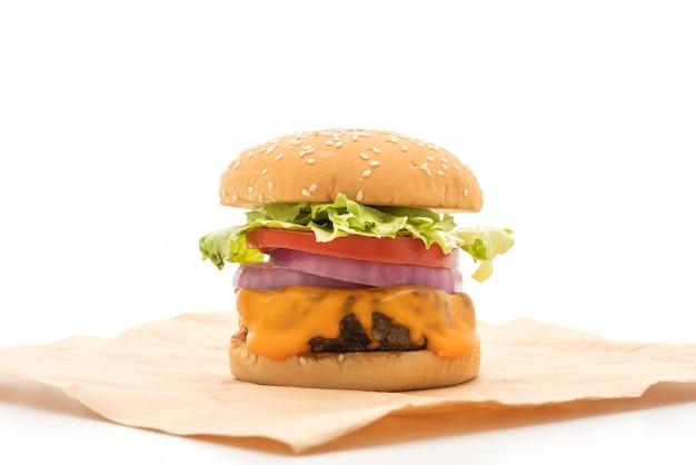 Świeży smaczny burger wołowy z serem