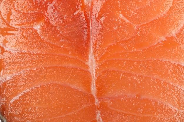 Świeży surowy łososiowego mięsa tekstury tło