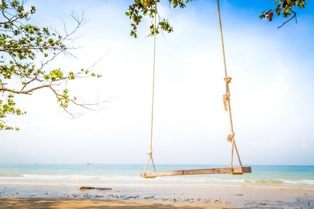 Swing z morza tła