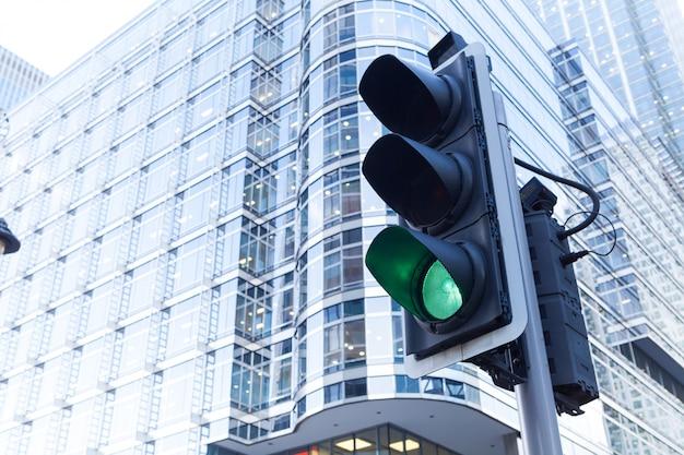 Sygnalizacja świetlna w mieście londyn