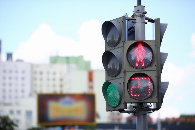 Sygnalizacja świetlna w mieście