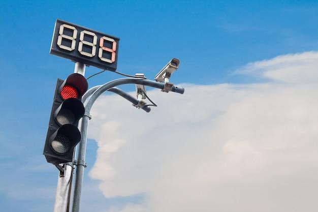 Sygnalizacja świetlna z numerem odliczania