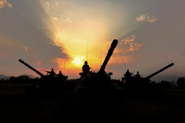 Sylwetka czołgu armii