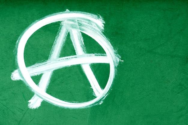 Symbol anarchii na ścianie