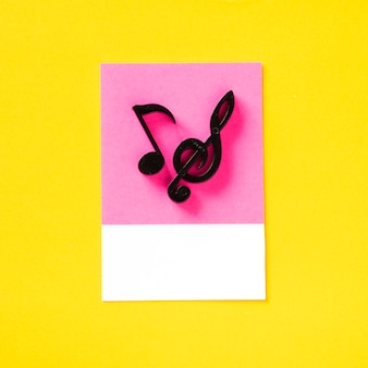 Symbol audio kolorowy nutka