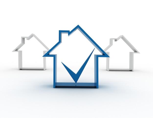 Symbol domu ze znacznikiem wyboru