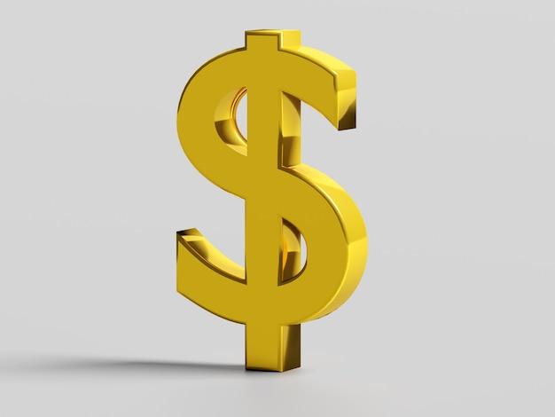 Symbol finansów i biznesu. złoty znak dolara