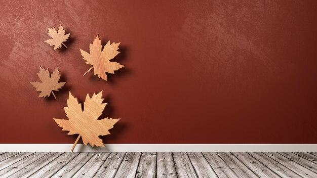 Symbol jesiennych liści w pokoju