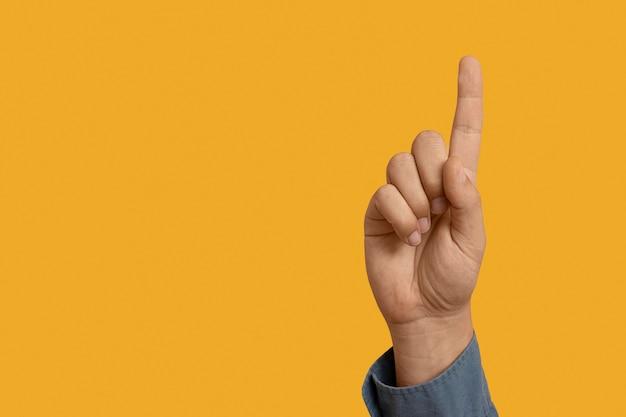 Symbol języka migowego z miejscem na kopię