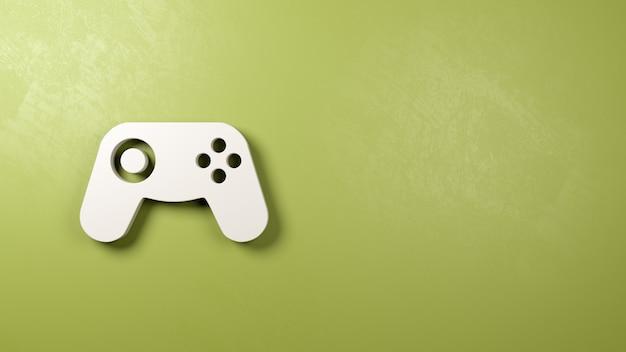 Symbol kontrolera gamepad na ścianie