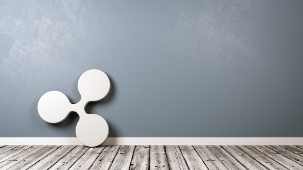 Symbol kryptowaluty ripple w pokoju