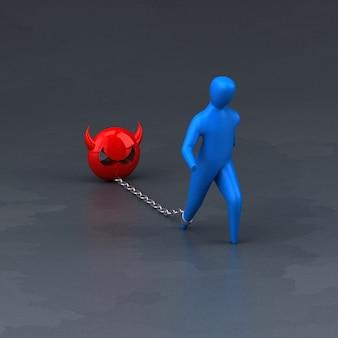 Symbol obciążenia - 3d ilustracji