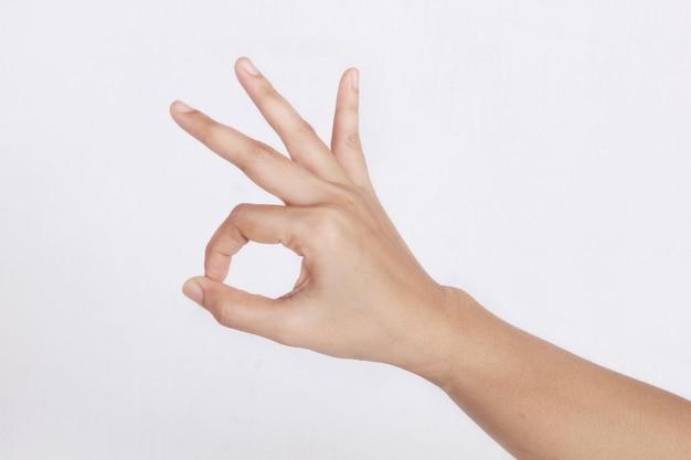 Symbol prawej ręki znak w porządku
