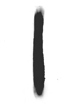 Symbol sztuki tuszu ociekowa rozpryskiwania