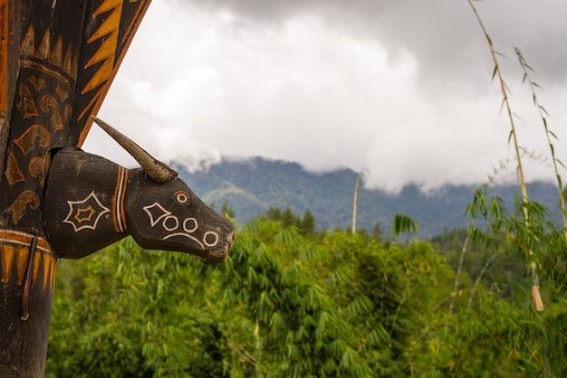Symbol w tana toraja sulawesi indonezja