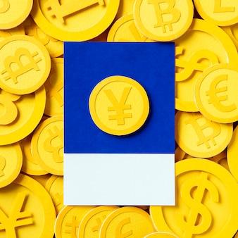 Symbol waluty pieniądze jena japońskiego