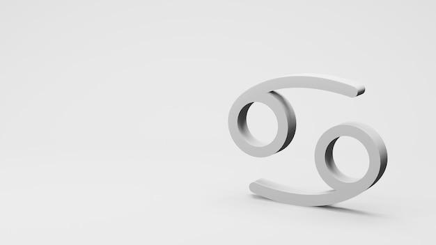 Symbol zodiaku znaki raka renderowania 3d